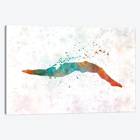 Swimming Silhouette III Canvas Print #PUR685} by Paul Rommer Art Print