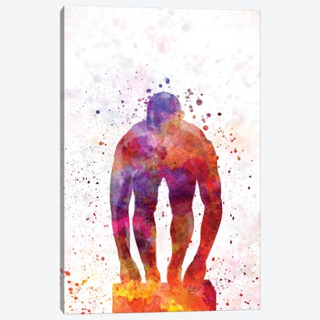 Swimming Silhouette VI Canvas Print #PUR688} by Paul Rommer Canvas Art
