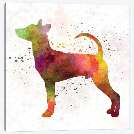 Taiwan Dog In Watercolor Canvas Print #PUR694} by Paul Rommer Canvas Wall Art