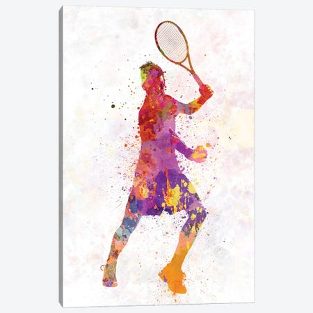 Tennis Player Celebrating In Silhouette I Canvas Print #PUR698} by Paul Rommer Art Print