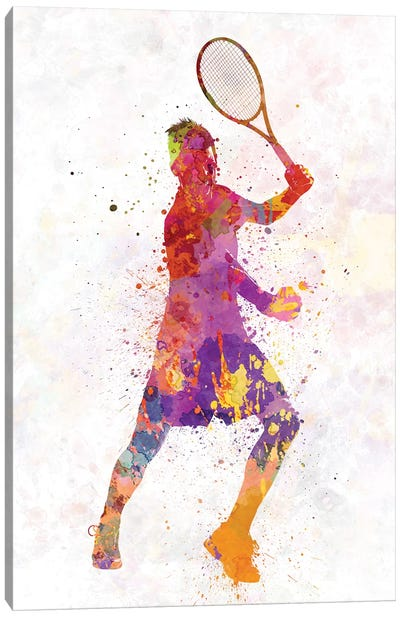 Tennis Player Celebrating In Silhouette I Canvas Art Print