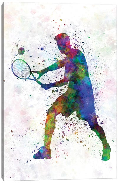 Tennis Player In Silhouette I Canvas Art Print