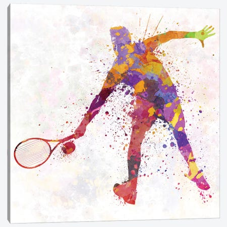 Tennis Player In Silhouette II Canvas Print #PUR700} by Paul Rommer Canvas Print