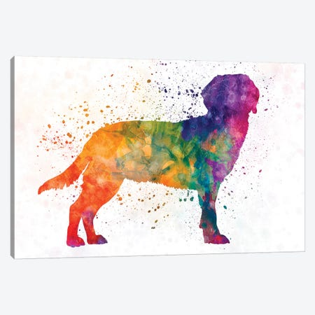 Tyrolean Hound In Watercolor Canvas Print #PUR716} by Paul Rommer Art Print
