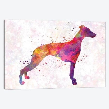 Whippet In Watercolor 3-Piece Canvas #PUR749} by Paul Rommer Art Print