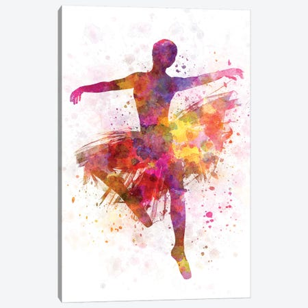 Ballerina Dancing III Canvas Print #PUR756} by Paul Rommer Canvas Art Print