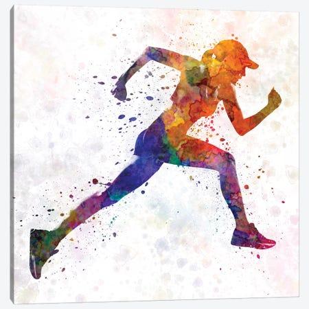Woman Runner Jogger Running Canvas Print #PUR785} by Paul Rommer Canvas Art