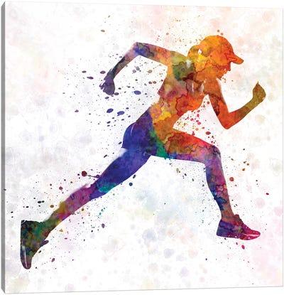 Woman Runner Jogger Running Canvas Art Print