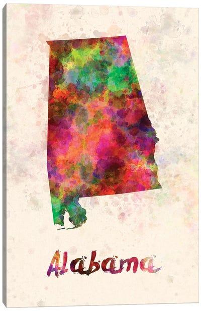 Alabama Canvas Art Print