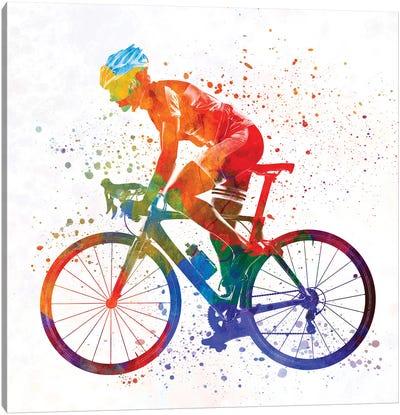 Woman Triathlon Cycling 01 Canvas Art Print