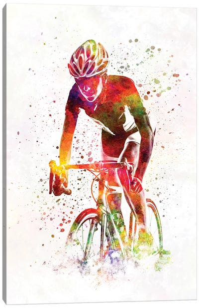 Woman Triathlon Cycling 04 Canvas Art Print