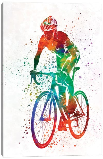 Woman Triathlon Cycling 05 Canvas Art Print