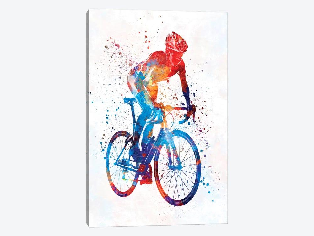 Woman Triathlon Cycling 06 by Paul Rommer 1-piece Canvas Print
