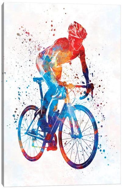Woman Triathlon Cycling 06 Canvas Art Print