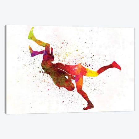 Wrestlers Wrestling Men In Watercolor II Canvas Print #PUR842} by Paul Rommer Canvas Artwork