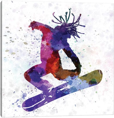 Young Snowboarder Canvas Art Print