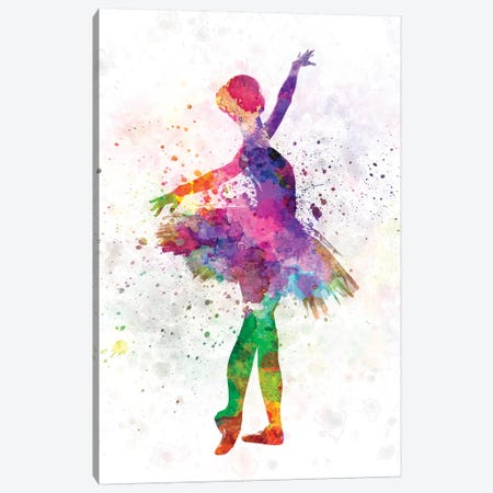 Young Woman Ballerina Ballet Dancer Dancing With Tutu Canvas Print #PUR862} by Paul Rommer Canvas Artwork