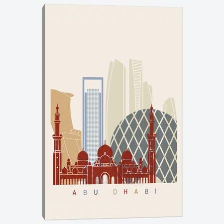 Abu Dhabi II Skyline Poster Canvas Print #PUR882} by Paul Rommer Canvas Wall Art
