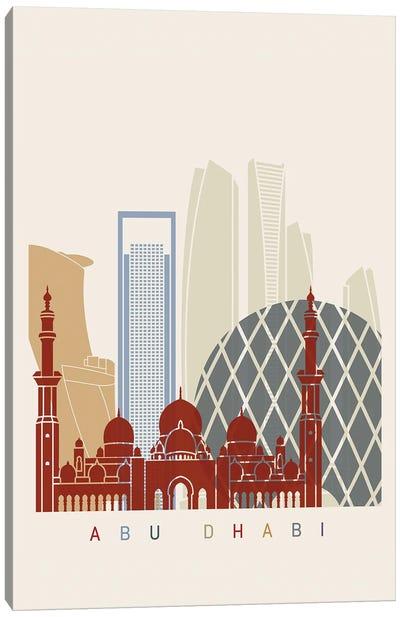 Abu Dhabi II Skyline Poster Canvas Art Print