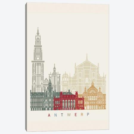Antwerp Skyline Poster Canvas Print #PUR898} by Paul Rommer Art Print