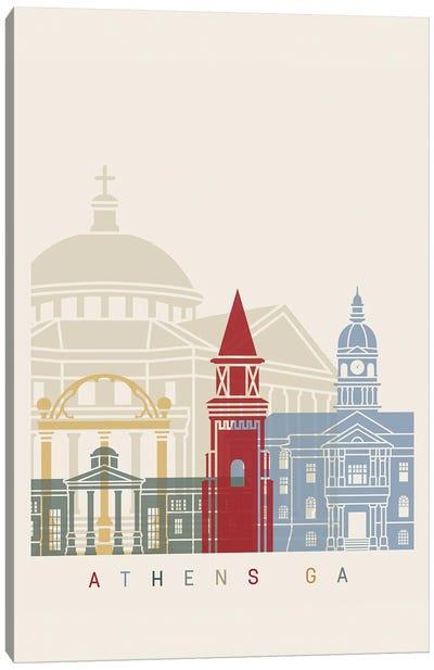 Athens Ga Skyline Poster Canvas Art Print