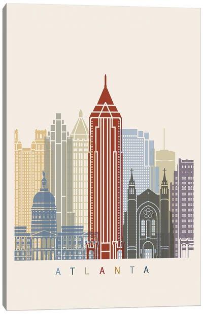 Atlanta Skyline Poster Canvas Art Print