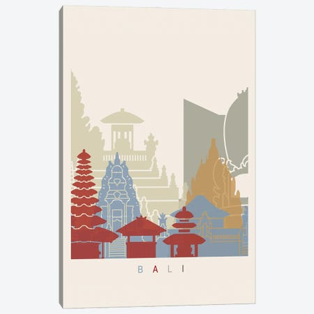 Bali Skyline Poster Canvas Print #PUR909} by Paul Rommer Art Print