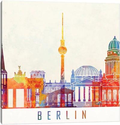 Berlin Landmarks Watercolor Poster Canvas Art Print