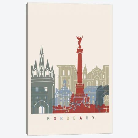 Bordeaux Skyline Poster Canvas Print #PUR926} by Paul Rommer Canvas Art