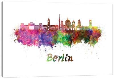 Berlin Skyline In Watercolor II Canvas Art Print