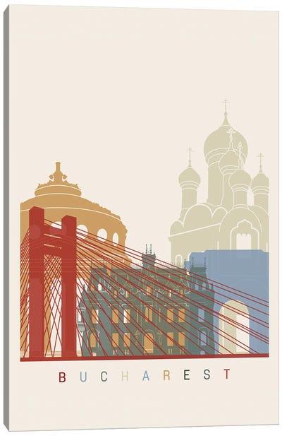 Bucharest Skyline Poster Canvas Art Print