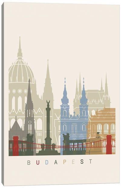 Budapest Skyline Poster Canvas Art Print