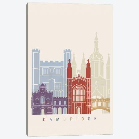 Cambridge Skyline Poster Canvas Print #PUR946} by Paul Rommer Canvas Art