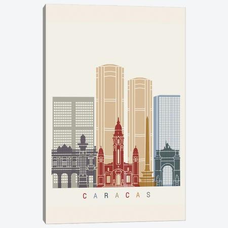 Caracas II Skyline Poster Canvas Print #PUR947} by Paul Rommer Canvas Art
