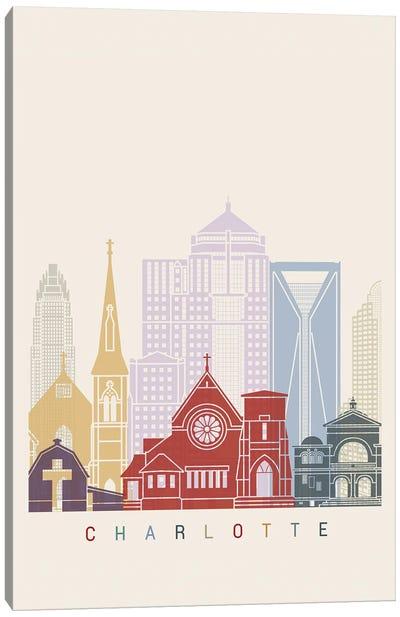 Charlotte II Skyline Poster Canvas Art Print