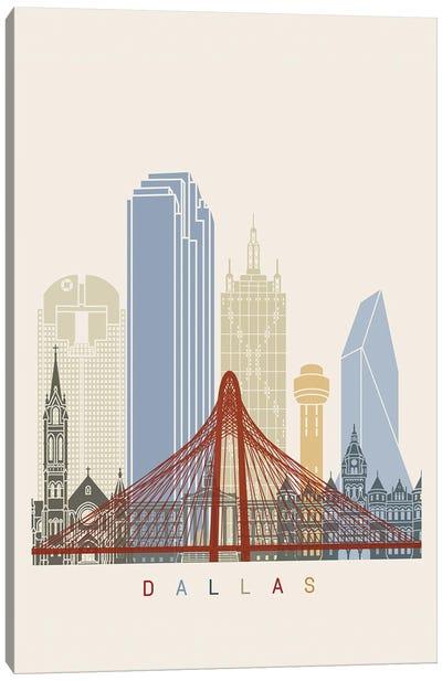 Dallas Skyline Poster Canvas Art Print