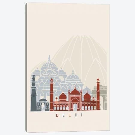 Delhi Skyline Poster Canvas Print #PUR965} by Paul Rommer Canvas Art