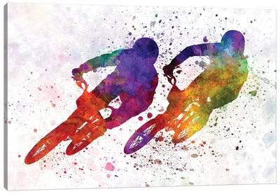 BMX Race II Canvas Art Print