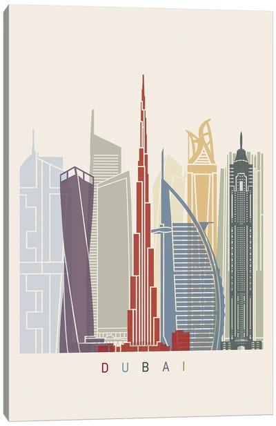Dubai II Skyline Poster Canvas Art Print