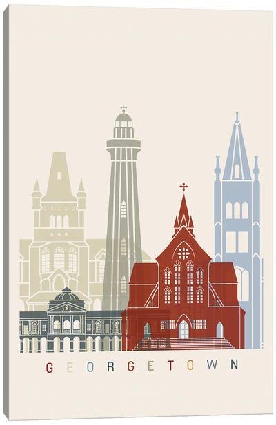 Georgetown Skyline Poster Canvas Art Print