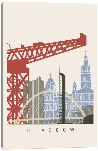Glasgow Skyline Poster Canvas Art Print