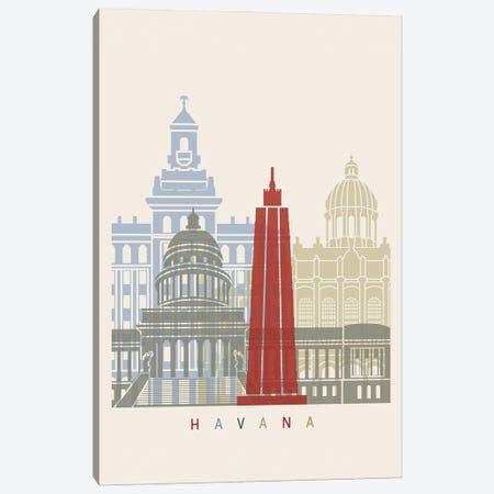 Havana Skyline Poster Canvas Print #PUR998} by Paul Rommer Canvas Wall Art