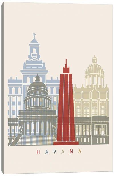 Havana Skyline Poster Canvas Art Print