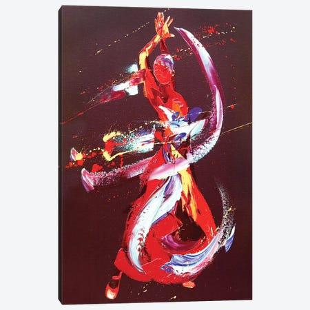 Fire 3-Piece Canvas #PWA21} by Penny Warden Canvas Art