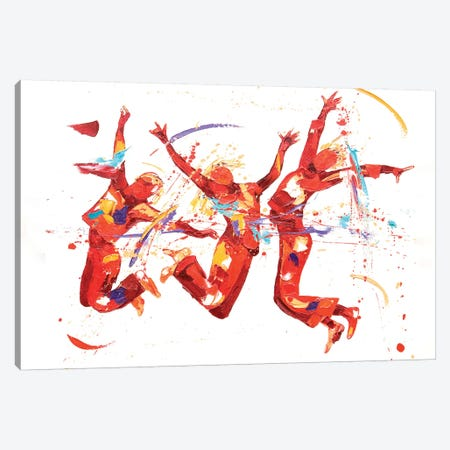 Fizz Canvas Print #PWA22} by Penny Warden Canvas Artwork