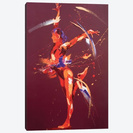 Gymnast Eight, 2011 (oil on canvas) Canvas Print #PWA24} by Penny Warden Art Print