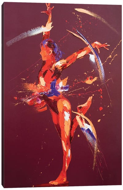 Gymnast Eight, 2011 (oil on canvas) Canvas Art Print