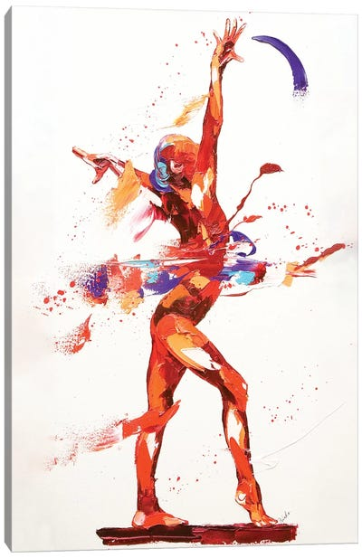 Gymnast Four, 2010 (oil on canvas) Canvas Art Print