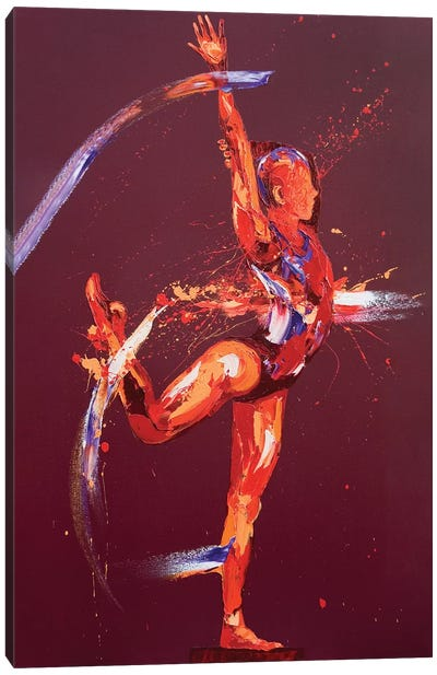 Gymnast Nine, 2011 (oil on canvas) Canvas Art Print