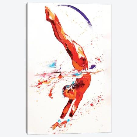 Gymnast Three, 2010 (oil on canvas) Canvas Print #PWA31} by Penny Warden Art Print